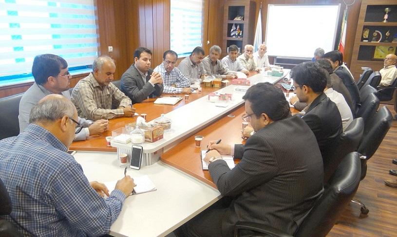 نشست مشترک نمایندگان کشاورزان بخش آبپخش با مدیران آب منطقه ای بوشهر